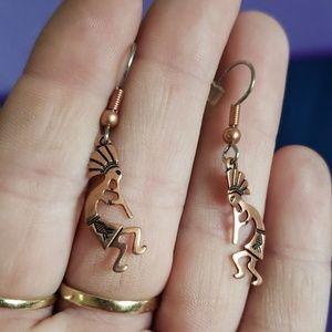 Copper indian earrings